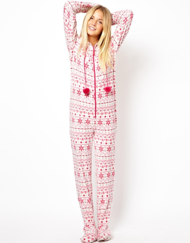 New Look Fairisle Fleece Onesie